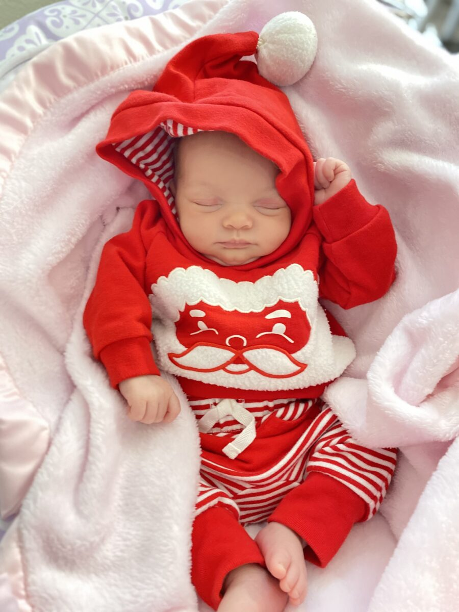 Baby Melody - Baby In a Christmas Outfit